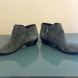 Sam Edelman Shoes - SAM EDELMAN Petty Putty Ankle Boots Gray Suede 6.5